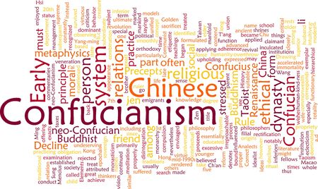metaphysics: Word cloud concept illustration of  Confucian Confucianism Stock Photo