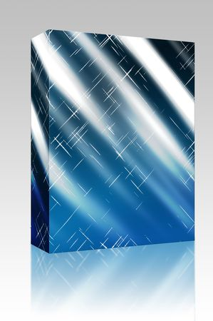 ambient: Software package box Sparkling glowing streaks of light ambient abstract background wallpaper Stock Photo
