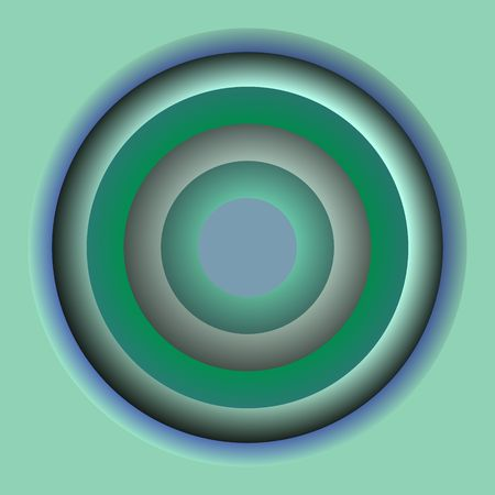 loony: Round circles of color, abstract illustration