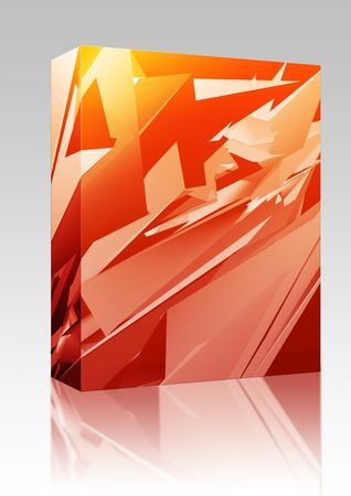 sleek: Software package box Abstract illustration background of sleek geometric shapes