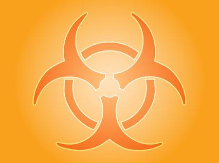 infectious waste: Biohazard sign, warning alert for hazardous bio materials