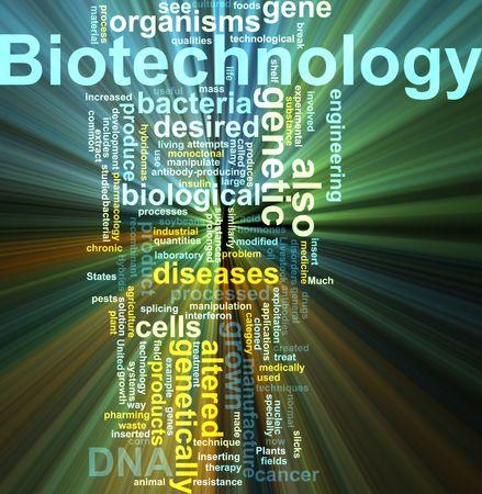 recombinant: Parola nube concetto illustrazione delle biotecnologie ricerca effetto luce incandescente