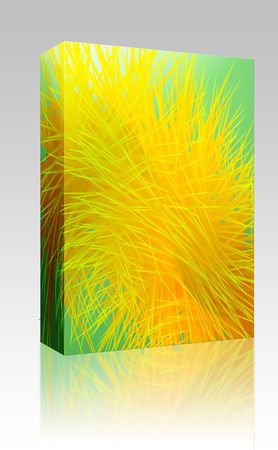spiky: Software package box Abstract wallpaper illustration of spiky geometric designs Stock Photo