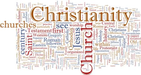 representations: Word cloud concept illustration of  Christian religion
