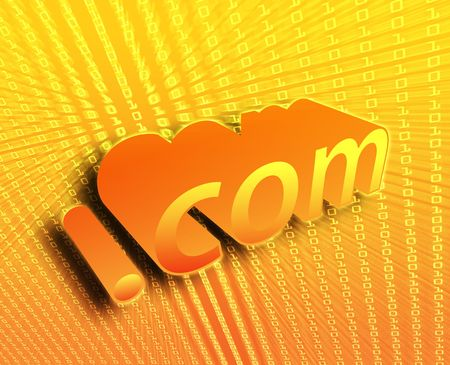dotcom: dotCom background, digital abstract internet information illustration Stock Photo