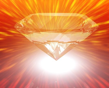 hoard: Luxury retirement wealth savings investment concept background diamond illustration
