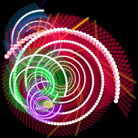 Spiral of glowing communications fiber optics internet data concept background Stock Photo