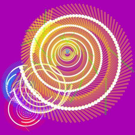 Spiral of glowing communications fiber optics internet data concept background Stock Photo