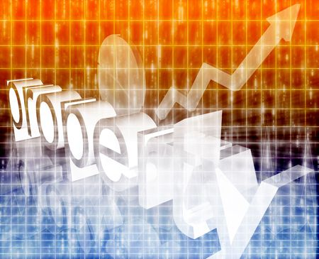 improving: Real estate property economy trend concept illustration background improving  Stock Photo