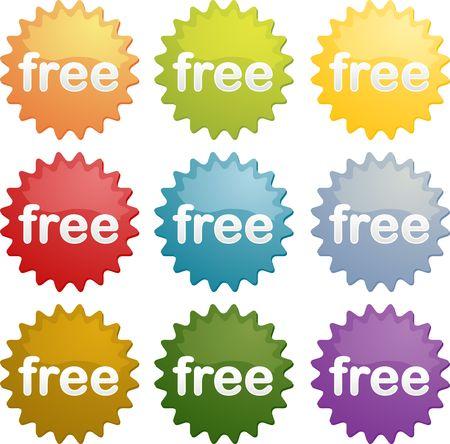 free marketing emblem seal illustration symbol many different colors illustration