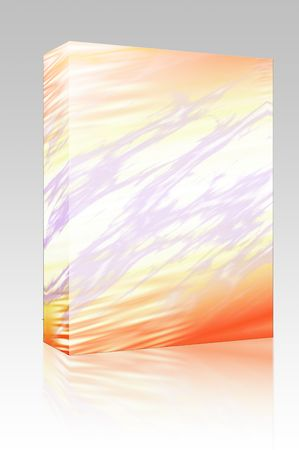 pulsating: Software package box Pulsating energy beam ray abstract design illustration