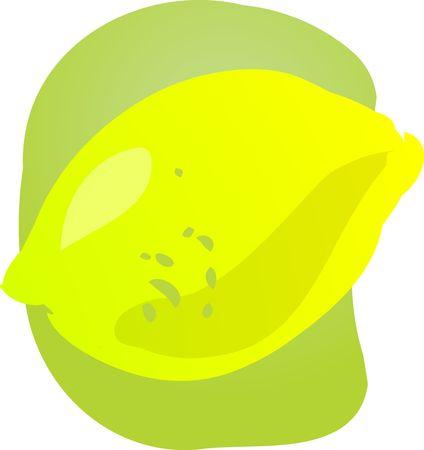 healthful: Sketch of whole fresh lemon, fruit illustration
