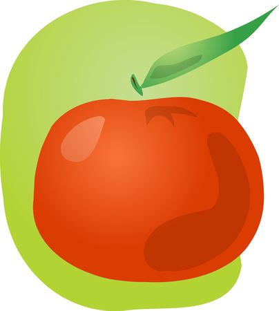 Sketch of whole fresh tangerine, fruit illustration illustration