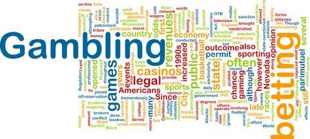 Word cloud concept illustration of gambling betting illustration