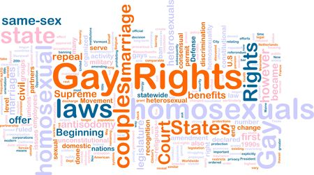 homosexual wedding: Word cloud concept illustration of gay rights