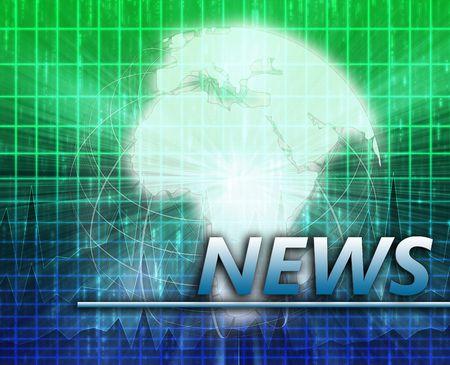 Africa Latest update news newsflash splash screen announcement illustration Stock Illustration - 6165602