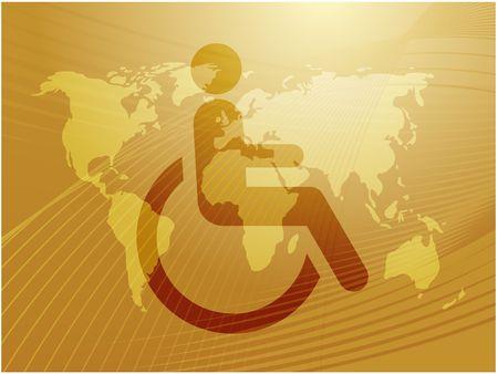 Handicap symbol illustration icon of wheelchair clipart Stock Illustration - 6164412