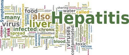 hepatitis vaccination: Word cloud concept illustration of Hepatitis disease
