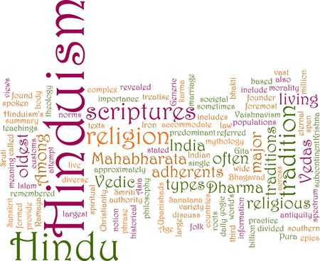 Word cloud concept illustration of  Hinduism religion Stock Illustration - 6165566