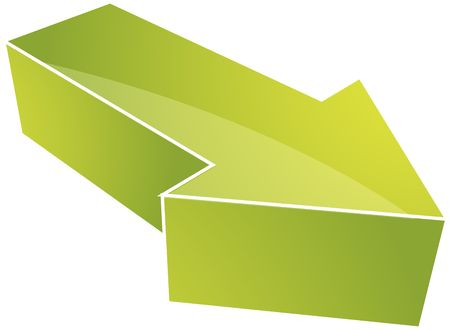 right angled: Forward moving arrow pointing right, design illustration