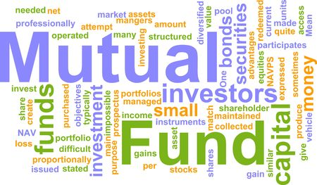 managed: Word cloud concept illustration of  mutual fund Stock Photo
