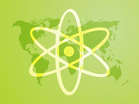 Atomic symbol Stock Photo - 6164489