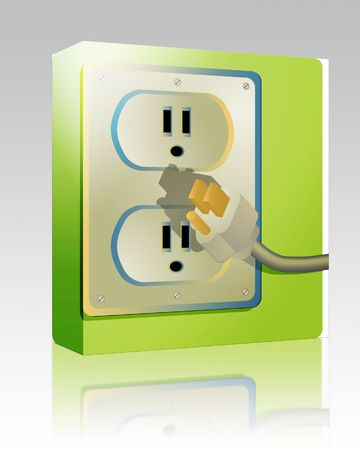 wall plug: Software package box Electrical outlet and plug, wall socket US style