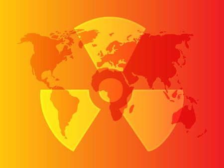 Illustration of radiation hazard warning alert symbol Stock Illustration - 6164686
