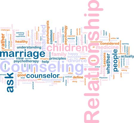 Word cloud concept illustration of  relationship counseling Stock Illustration - 6164951