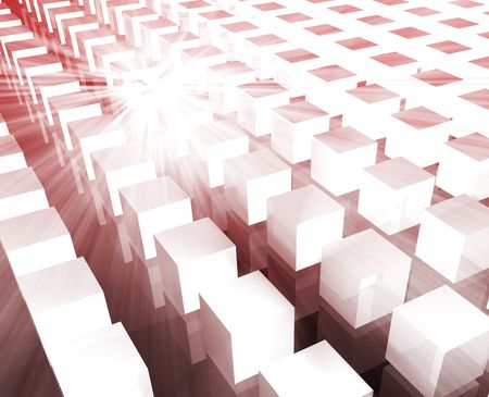 logical: Cubes grid illustration organized rows columns background wallpaper
