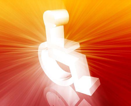 Handicap symbol illustration icon of wheelchair clipart illustration