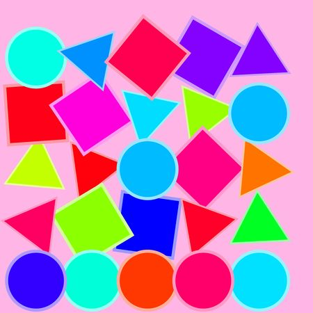 basics: Colorful geometric shapes children education childhood concept illustration