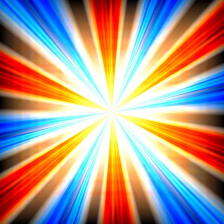 blowup: Radial zoom burst of energy, abstract background illustration