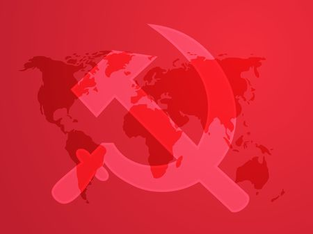 Soviet USSR hammer and sickle political symbol photo