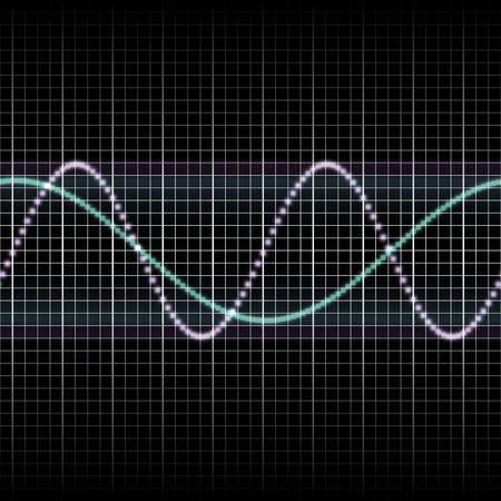 wellenl�nge: Abstract generische Wissenschaft audio Wellen Messung Display illustration