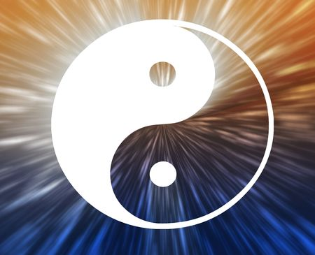 yin yang symbol: Yin yang symbol oriental representation of duality Stock Photo