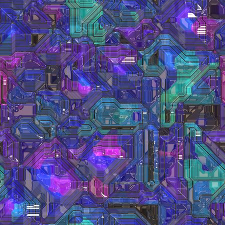 Abstract high tech circuitry technology background wallpaper illustration Stock Illustration - 6164121