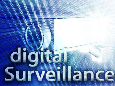 Security video camera digital surveillance equipment illustration illustration