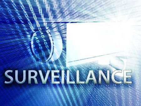 monitoring system: Security video camera digital surveillance equipment illustration