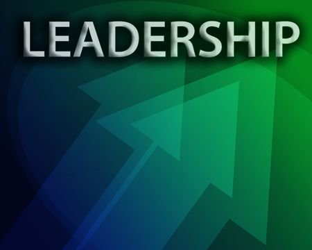 Leadership illustration, abstract management success concept clipart illustration