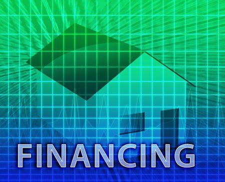 House financing digital collage illustration, subprime loan Stock Illustration - 6165804