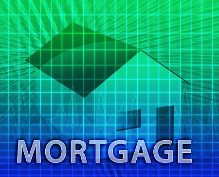 House financing digital collage illustration, subprime loan Stock Illustration - 6165852