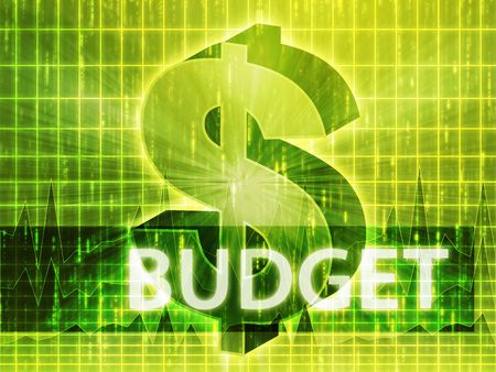 brigh: Budget Finance illustration, dollar symbol over financial design
