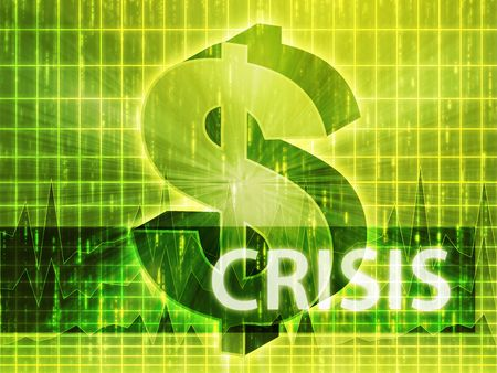 brigh: Crisis Finance illustration, dollar symbol over financial design