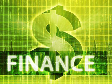 greenback: Finance illustration, dollar symbol over financial design