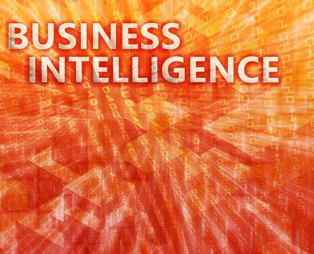 Business intellegence abstract, computer technology concept illustration illustration