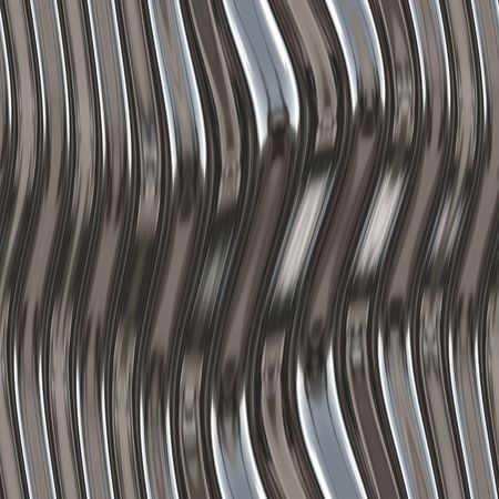 silver texture: Warped reflective chromed metal surface texture background
