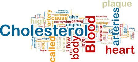 angina: Word-Cloud-Konzept-Abbildung von Blut Cholesterin