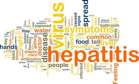 Word cloud concept illustration of  hepatitis virus Stock Illustration - 6165296