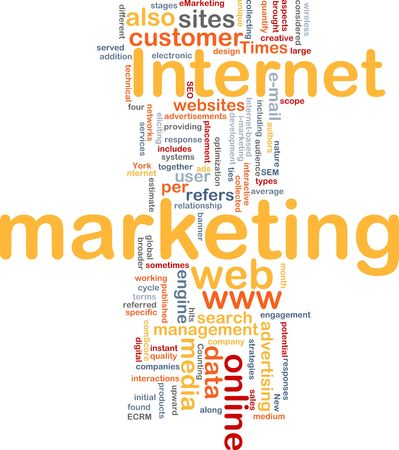 Word cloud concept illustration of internet marketing Stock Illustration - 6165167